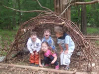 Kids in bear's den