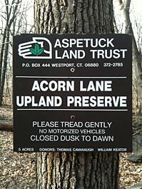 Acorn Lane Sign