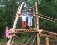 Kids on top of a tower