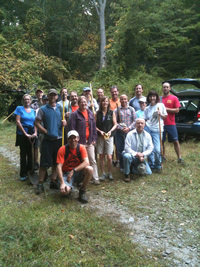 Trail Maintenance volunteers from CT Northeast Mountain Bike Association and ALT