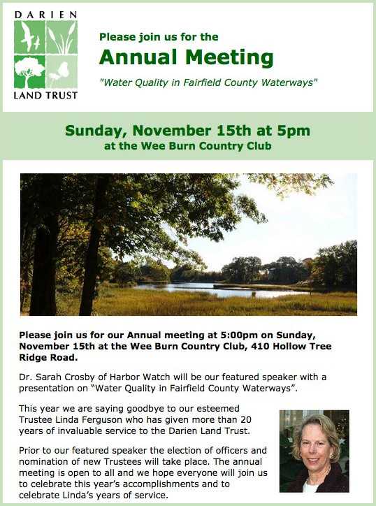 Annual Meeting held November 15th at Wee Burn Country Club