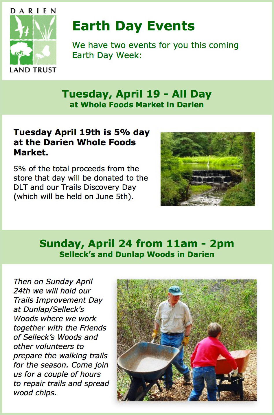 Earth Day Events: April 19 & 24