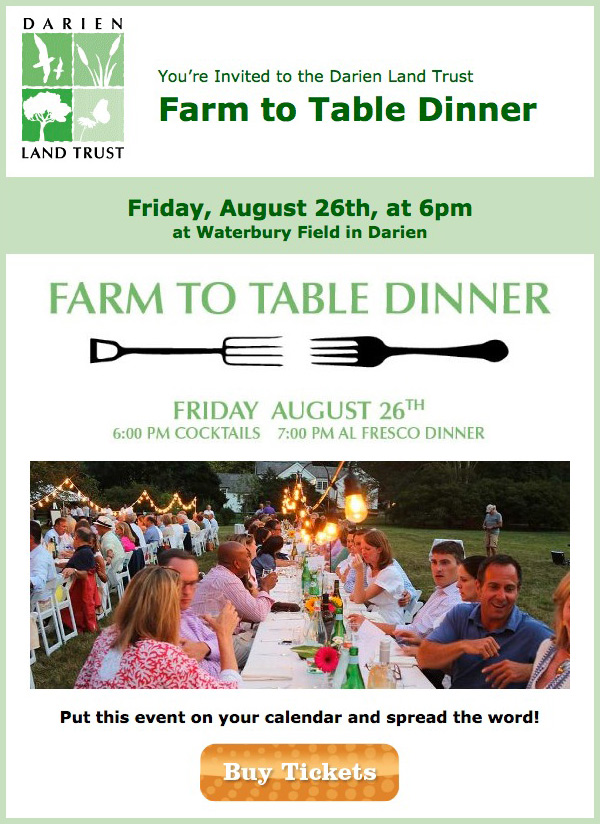 Upcoming Event: DLT's 2016 Farm To Table event, Friday, August 26th at 6pm