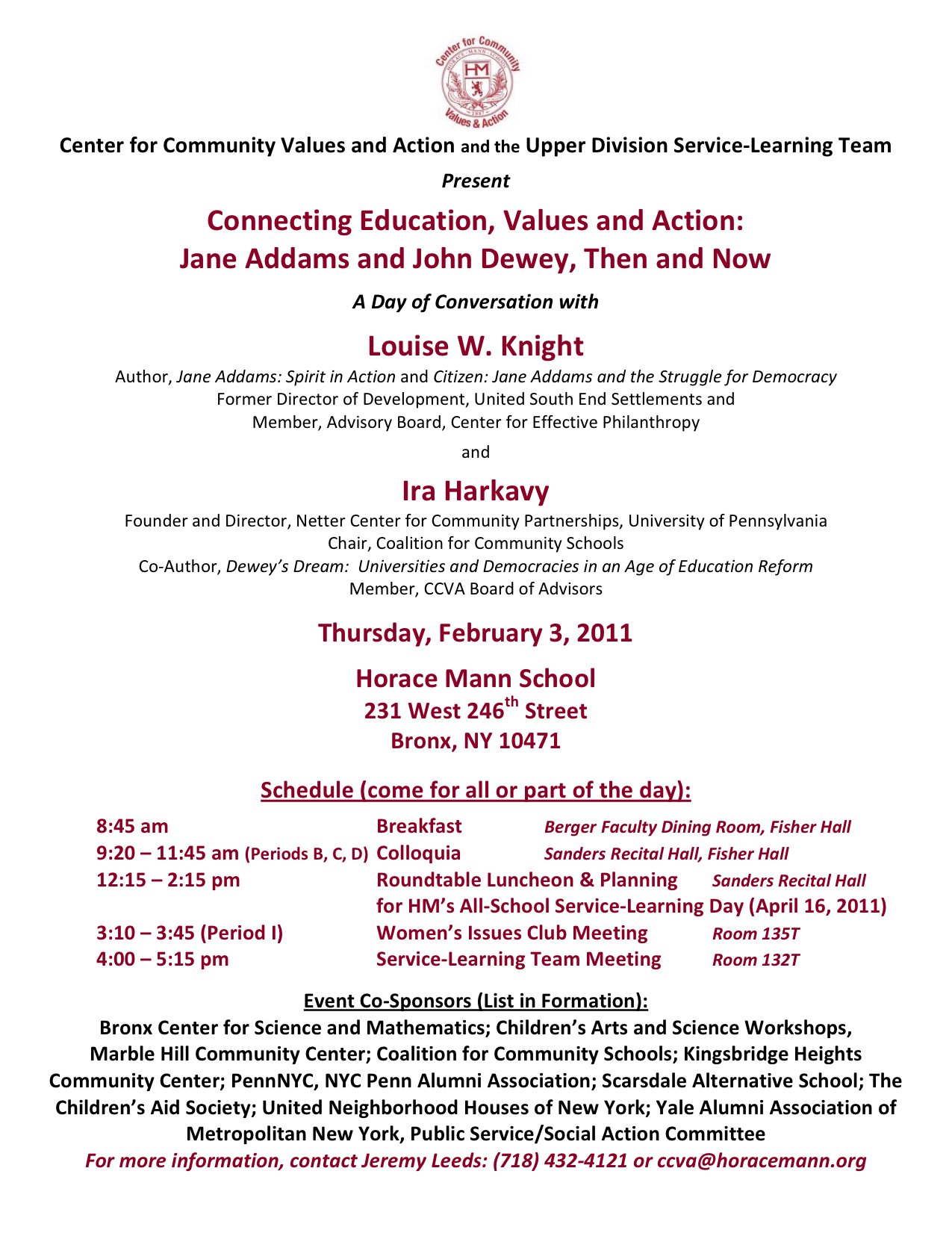CCVA conference program